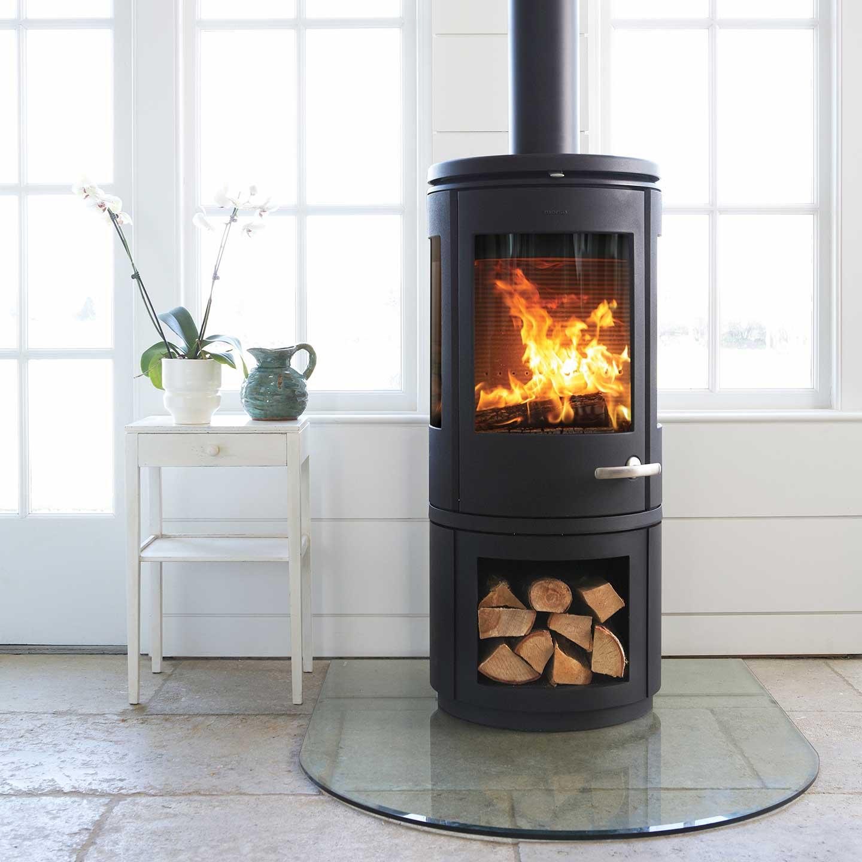 morso 7943 with log store. Black Bedroom Furniture Sets. Home Design Ideas