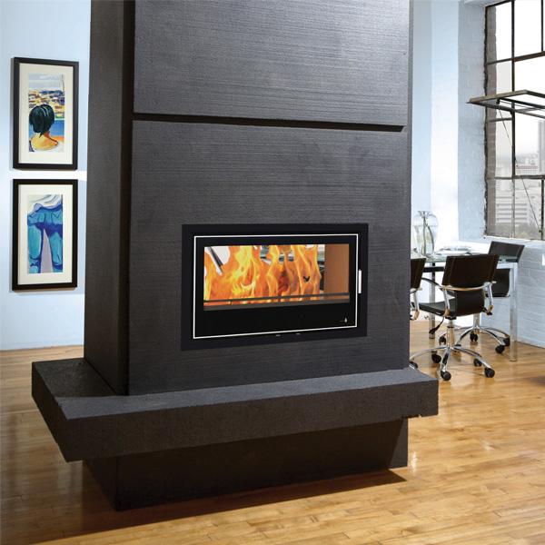 Lennox 3 Sided Propane Fireplace: Henley Lisbon 900 Double Sided Cassette Stove